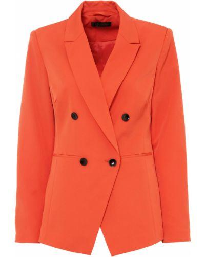Удлиненный пиджак с подкладкой с воротником на пуговицах Bonprix