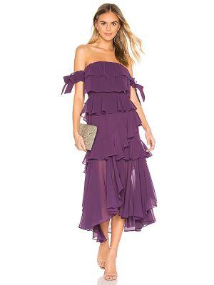 Фиолетовое шифоновое платье с декольте Misa Los Angeles