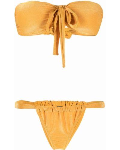 Żółty złoty bikini Antonella Rizza