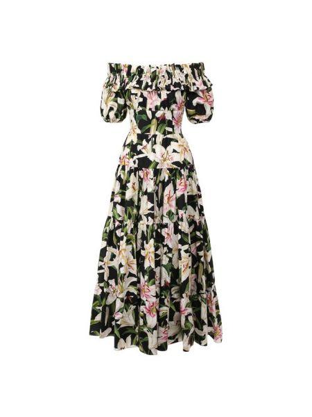 Платье каскадное из поплина Dolce & Gabbana