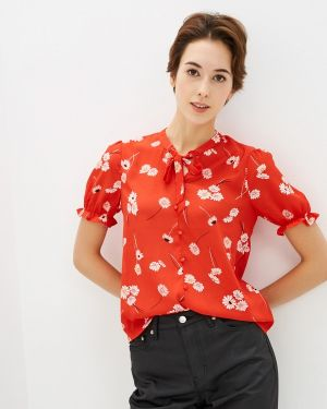 Блузка с бантом красная Pimkie