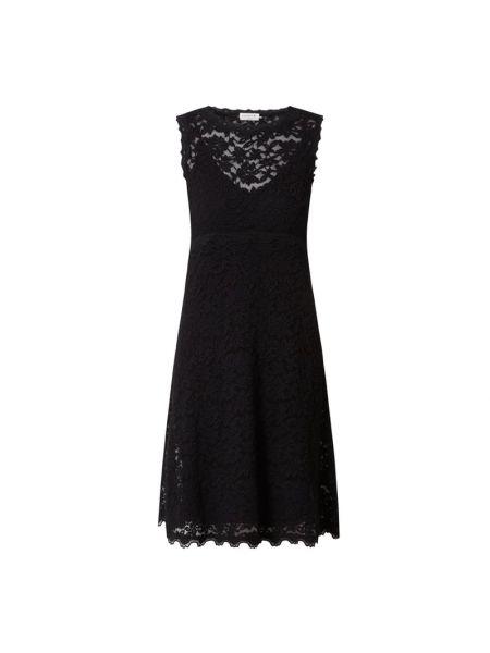 Czarna sukienka rozkloszowana koronkowa Rosemunde