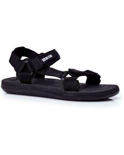 Czarne sport sandały na rzepy Kesi