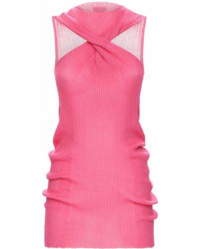 Хлопковый розовый топ без рукавов Bottega Veneta