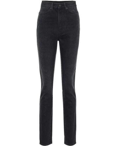Czarny bawełna bawełna jeansy na wysokości chudy Acne Studios