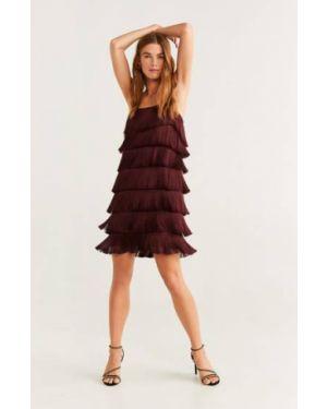 Платье с бахромой на пуговицах Mango
