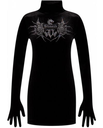 Czarna sukienka Vetements