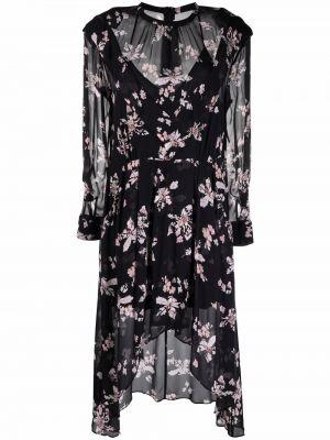 Платье миди с длинными рукавами - черное Iro