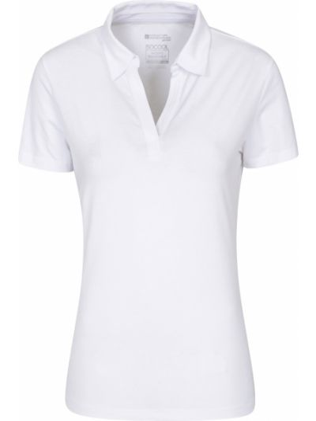 Biały t-shirt materiałowy Mountain Warehouse