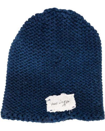 Niebieska czapka bawełniana Greg Lauren