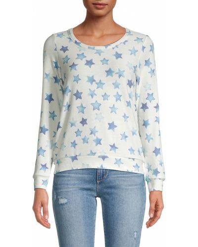 Пуловер с вырезом - синий Chaser