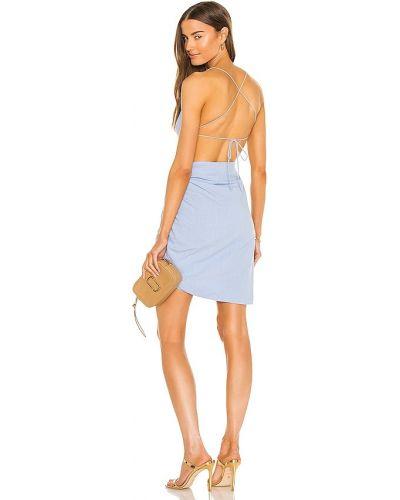 Домашнее синее платье с подкладкой Bardot
