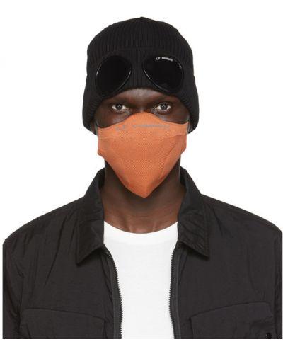 Czarny maska do twarzy rozciągać C.p. Company