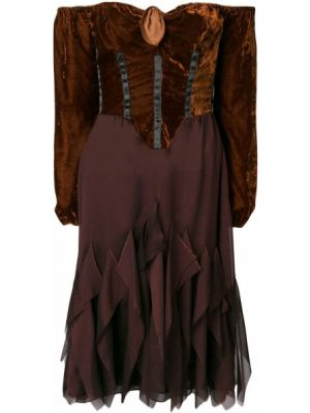Платье миди винтажная расклешенное Romeo Gigli Pre-owned
