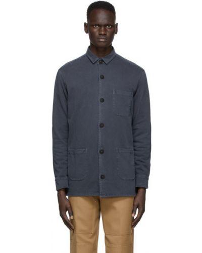 Черная рубашка с воротником с заплатками с манжетами Schnaydermans