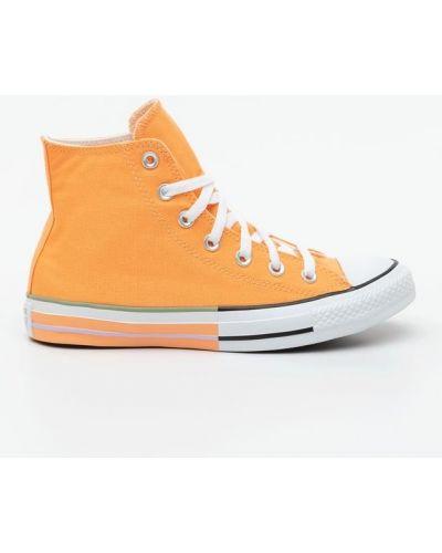 Pomarańczowy wysoki trampki Converse