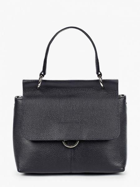 Синяя кожаная сумка из натуральной кожи Afina