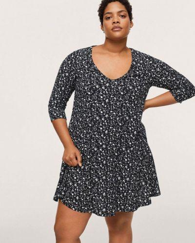 Черное повседневное платье Violeta By Mango
