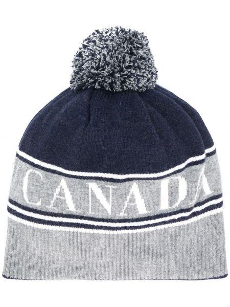Zimowy kapelusz z logo Canada Goose