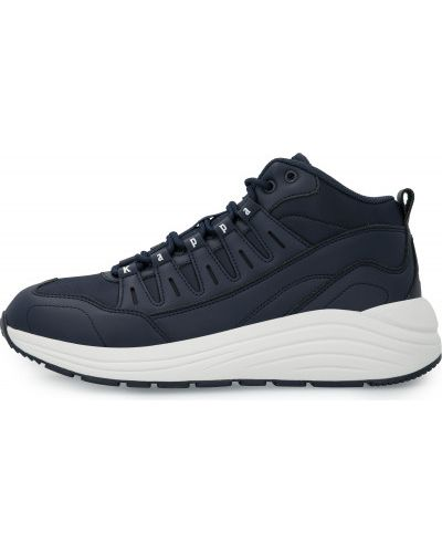 Кожаные высокие кроссовки - синие Kappa