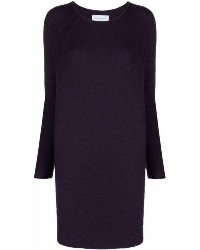 Платье миди в рубчик - фиолетовое Christian Wijnants
