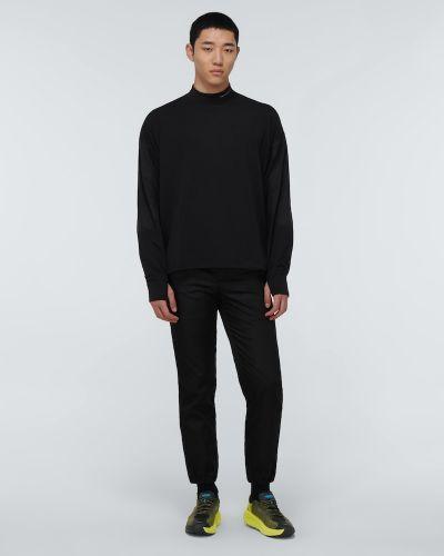 Облегченные текстильные черные высокие кроссовки Hoka One One
