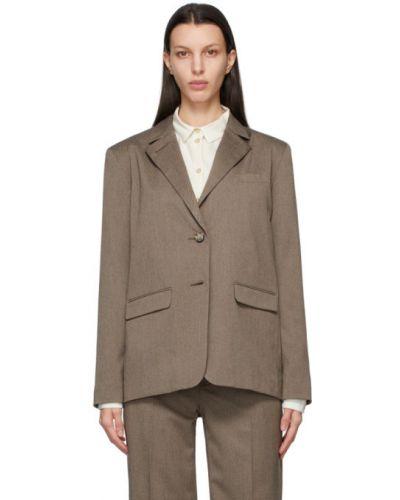 Белый удлиненный пиджак с подкладкой с воротником Won Hundred