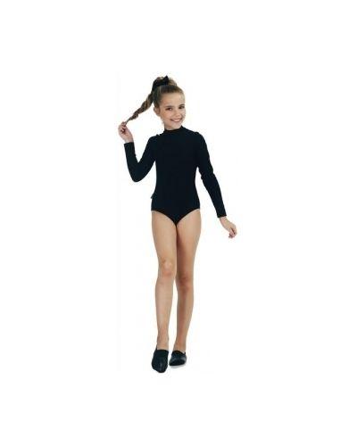 Спортивный купальник с длинным рукавом черный Smil