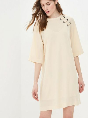 Платье бежевое Sisley