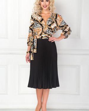 Платье с поясом с запахом шифоновое Bellovera