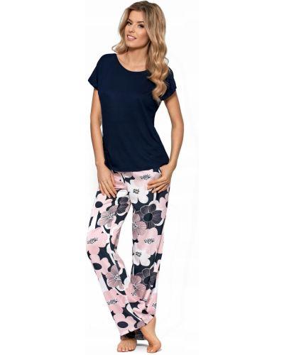 Piżama krótki rękaw z wiskozy w kwiaty Nipplex