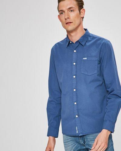 Рубашка однотонная с карманами Pepe Jeans