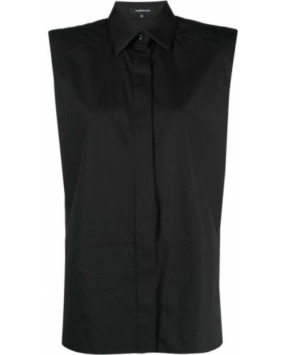 Czarna koszula bawełniana bez rękawów Barbara Bui