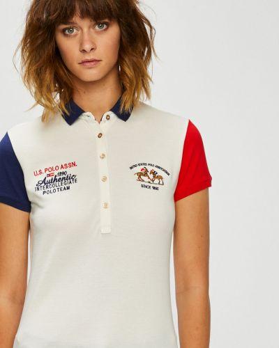 Спортивная футболка прямая с аппликациями U.s. Polo
