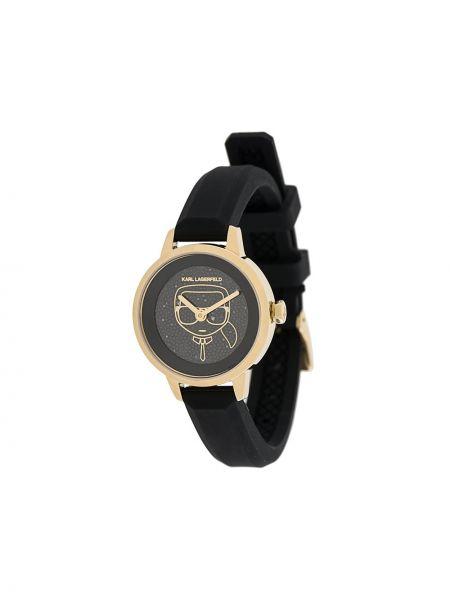 Zegarek czarny do twarzy Karl Lagerfeld