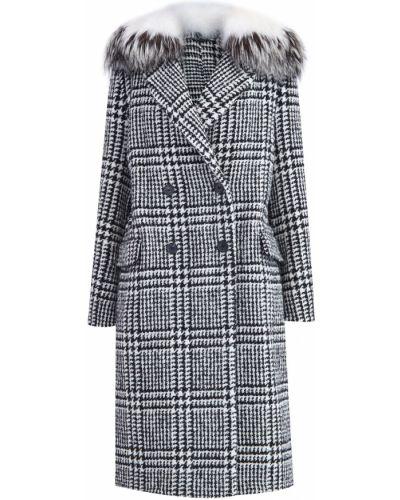 Пальто классическое из альпаки с принтом Ermanno Scervino