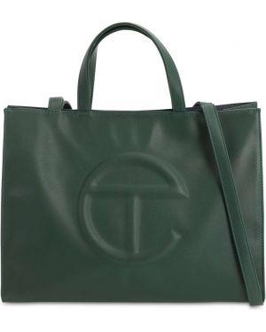 Zielona torba na ramię skórzana Telfar