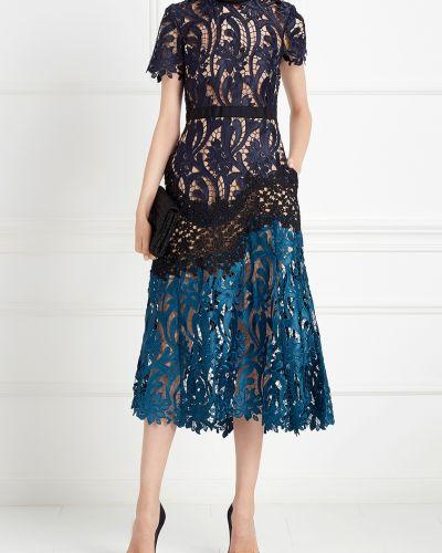 Платье на шнуровке ажурное Self-portrait