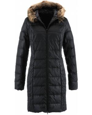 Куртка с капюшоном черная стеганая Bonprix