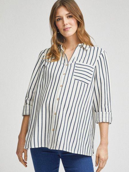 Рубашка с длинным рукавом белая для беременных Dorothy Perkins Maternity