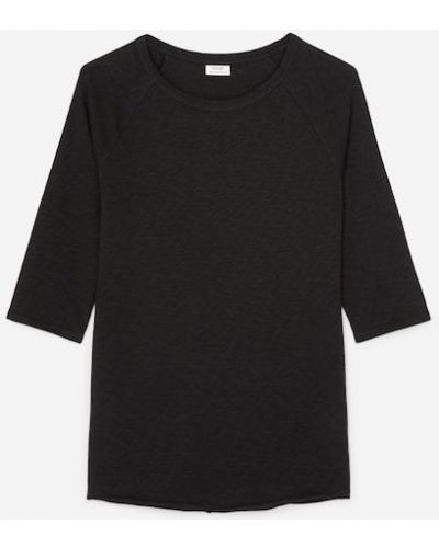 Czarna koszulka bawełniana Marc O Polo