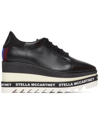 Białe loafers skorzane koronkowe Stella Mccartney
