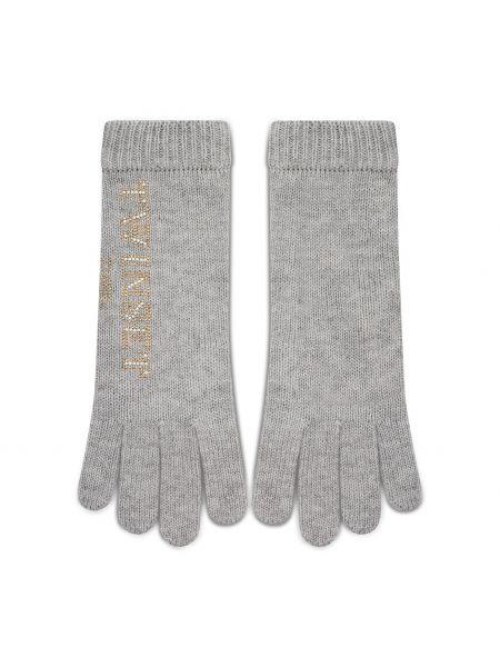 Szare rękawiczki Twinset