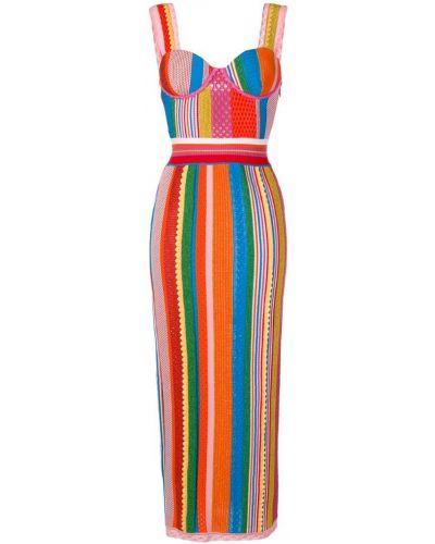 Платье макси платье-поло длинное Moschino