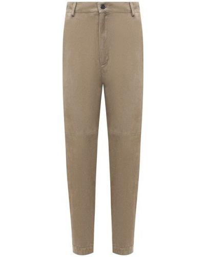Зеленые кожаные брюки с подкладкой Simonetta Ravizza