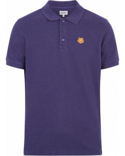 T-shirt z haftem krótki rękaw zapinane na guziki Kenzo
