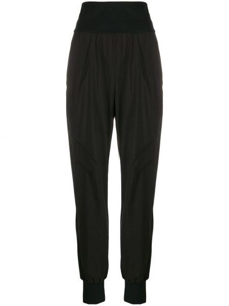 Нейлоновые черные спортивные брюки с карманами узкого кроя No Ka 'oi
