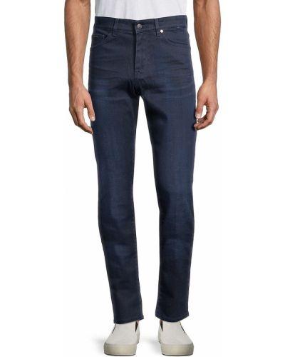 Прямые синие джинсы стрейч Boss Hugo Boss