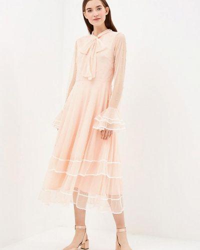 Вечернее платье осеннее красный Danity