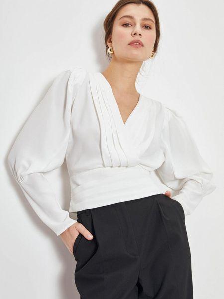 Блузка с длинным рукавом белая весенний Lime